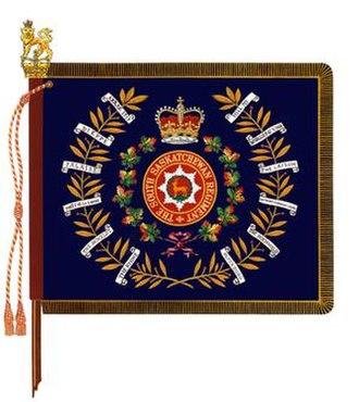 The South Saskatchewan Regiment - The regimental colour of the South Saskatchewan Regiment.