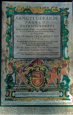 Ajtony - 1597 edition of the Long Life of Saint Gerard