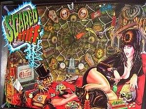 Scared Stiff (pinball) - Image: Scared Stiff pinball backglass