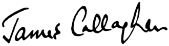 James Callaghan - Image: Signature of James Callaghan