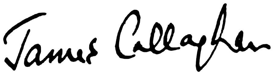 James Callaghan's signature