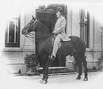 Sidney Hill riding his horse