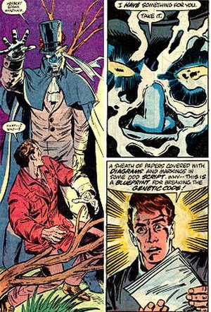 High Evolutionary - Phaeder hands Wyndham the papers to break the genetic code.