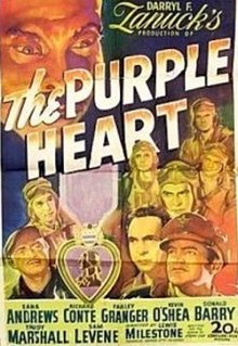 <i>The Purple Heart</i> 1944 film by Lewis Milestone