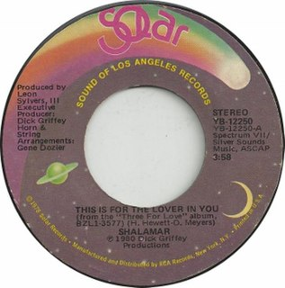 This Is for the Lover in You 1981 single by Shalamar
