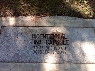 Trumbull, Connecticut - Trumbull's time capsule.