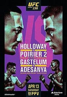 UFC 236 UFC mixed martial arts event in 2019