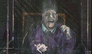 Untitled (Pope) - Untitled (Pope), oil on canvas, Francis Bacon, 1954