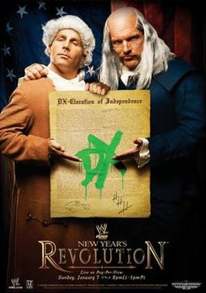 New Year's Revolution (2007) - Promotional poster featuring Shawn Michaels and Triple H