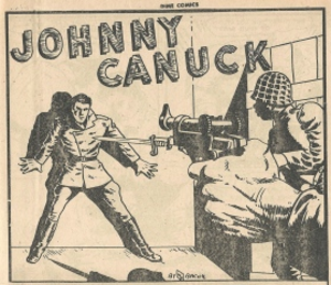 Johnny Canuck - c. 1942, portray Johnny Canuck as a World War II hero