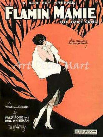 """Flamin' Mamie - 1925 sheet music cover, """"Flamin' Mamie"""", Leo Feist, NY."""