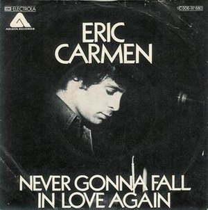 """Never Gonna Fall in Love Again - Image: """"Never Gonna Fall in Love Again"""" by Eric Carmen"""