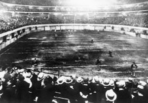 1932 NFL Playoff Game - The indoor field at Chicago Stadium