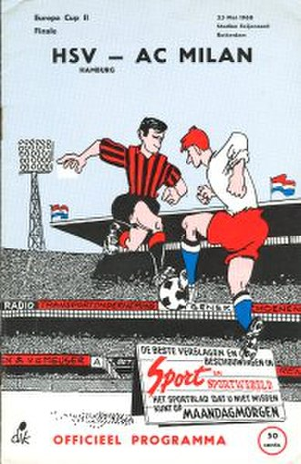 1968 European Cup Winners' Cup Final - Image: 1968 European Cup Winners' Cup Final programme