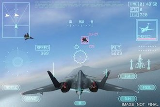 Ace Combat Xi: Skies of Incursion - An XFA-24 Apalis engaging enemy planes during a campaign mission.