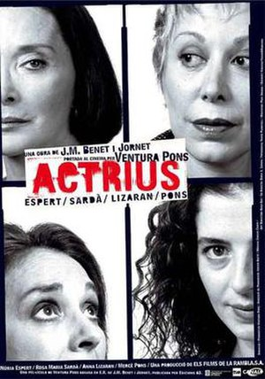 Actrius - Catalan language film poster