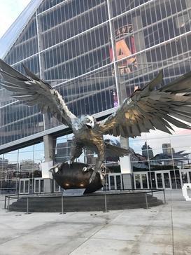 Atlanta Falcons sculpture Mercedes-Benz Stadium 2017-09-19