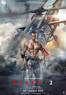 <i>Baaghi 2</i> 2018 action film directed by Ahmed Khan