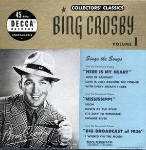 Bing Crosby, Collectors' Classics - Vols. 1-8 - Image: Bing Crosby, Collectors' Classics Vols. 1 8 (album cover)