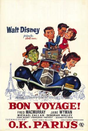 Bon Voyage! (1962 film) - 1962 Theatrical Poster