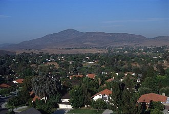 Bonita, California - View east from Bonita Downs toward Mount Miguel