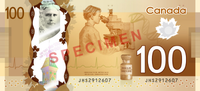 Canadian $100 note specimen - back.png