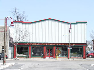 Canadian Automotive Museum - Entrance on Simcoe Street