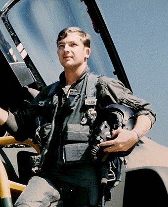 Charles B. DeBellevue, the first USAF weapon systems officer to become a flying ace. Capt C DeBellevue.jpg