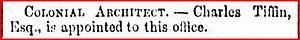 Charles Tiffin - Brisbane Courier, 27 December 1859