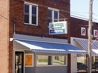Holdingford, Minnesota - One of many references to Lake Wobegon in Holdingford