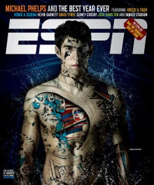 ESPN The Magazine - Image: ESPN magazine cover Michael Phelps