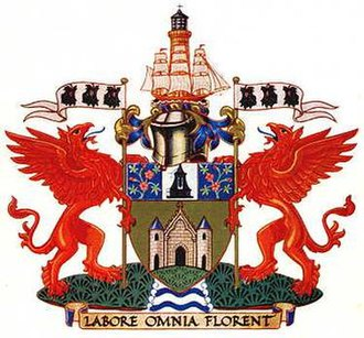 Eccles, Greater Manchester - The coat of arms of the former Eccles Municipal Borough Council