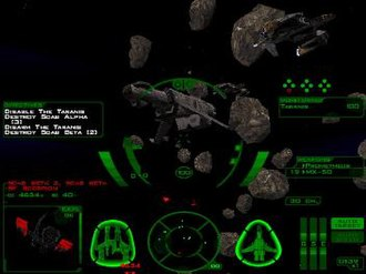 Descent: FreeSpace – The Great War - The HUD-only interface of the game, provides detailed information for players. The targeting system is currently set to automatically track the closest hostile target when the system isn't tracking anything