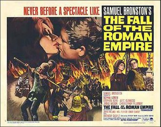 The Fall of the Roman Empire (film) - Original theatrical release poster by Renato Fratini
