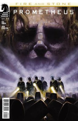 Fire and Stone - Cover to the first issue of Prometheus: Fire and Stone. Art by David Palumbo.