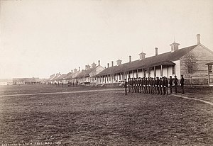 Fort Lewis College - The Fort Lewis military post in Hesperus, Colorado, May 1883.