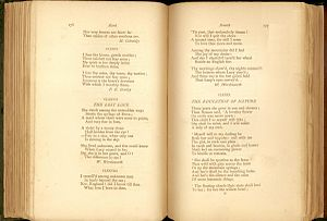 Palgrave's Golden Treasury - William Wordsworths poems, later to be called the Lucy series.  The two titles have been added by Palgrave (see last image below).
