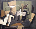 Georges Braque, 1918, Rhum et guitare, oil on canvas, 60 x 73 cm, Abelló Collection, Madrid.jpg