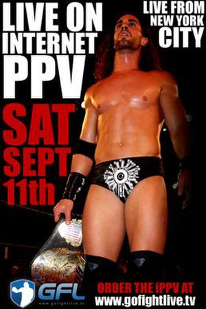 Glory By Honor IX - Promotional poster for the event, showing Tyler Black with the ROH World Championship