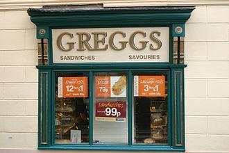 Greggs - Historic shop front, Greggs, Brecon (2005)