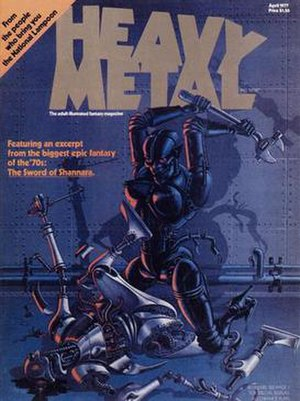 Heavy Metal (magazine) - Jean-Michel Nicollet's cover for the first issue.
