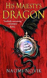 <i>His Majestys Dragon</i> book by Naomi Novik