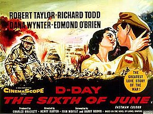 D-Day the Sixth of June - Original film poster by Jock Hinchliffe