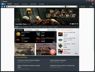 Impulse (software) Defunct video game distribution platform (2008-14)