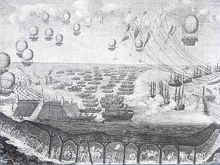 Cartoon on the invasion, showing a tunnel under the Channel and a fleet of balloons Invasion1805.jpg
