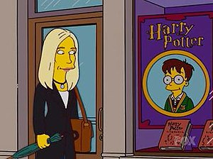 Parodies of Harry Potter - J. K. Rowling's appearance on The Simpsons