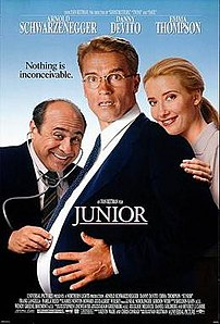 Film poster for Junior - Copyright 1994, Universal Pictures