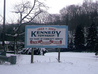 Kennedy Township, Allegheny County, Pennsylvania - Kennedy Township's Welcome Sign