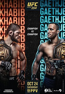 UFC 254: Khabib vs. Gaethje Fight Poster