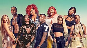 Love & Hip Hop: Hollywood - The cast of the fourth season, top row: Safaree, Lyrica, Teairra and Moniece. bottom row: Nikki, Princess, Ray J, Hazel and Keyshia.